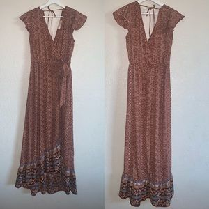 B.O.G collective gorgeous wrap high how dress m